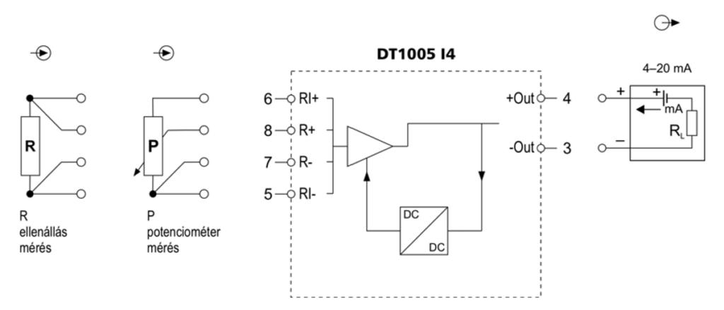 DT1005-I4-ellenállás / potenciométer távadó-alkalmazástechnikai-ábra