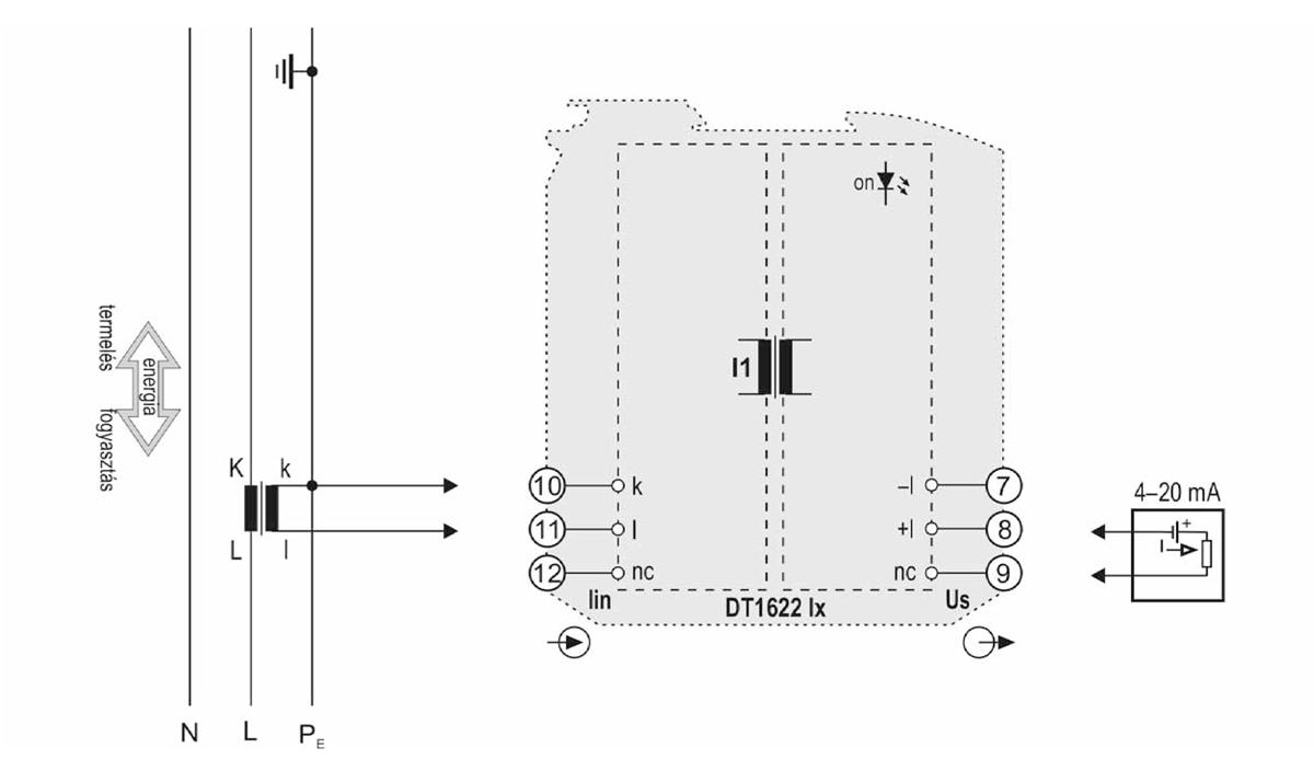 DT1622 I huroktáplálású váltakozóáram-távadók-alkalmazástechnikai ábra