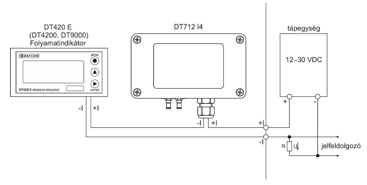 DT712 I4 Nyomáskülönbség távadó alkalmazástechnikai ábra1