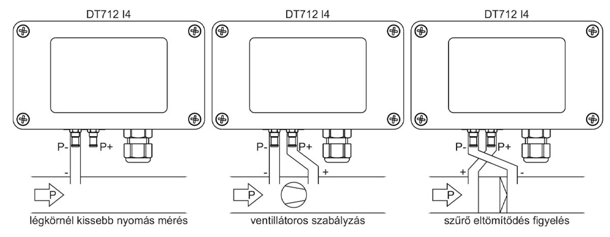 DT712 I4 Nyomáskülönbség távadó alkalmazástechnikai ábra2