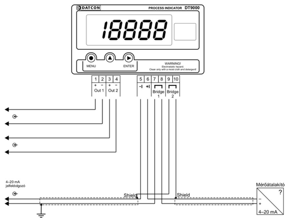 DT9000 N Folyamatindikátor alkalmazástechnikai ábra