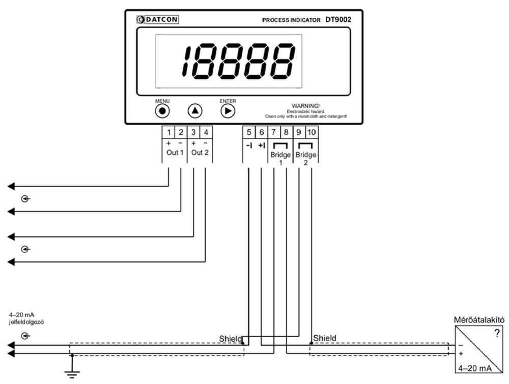 DT9002 N Folyamatindikátor alkalmazástechnikai ábra